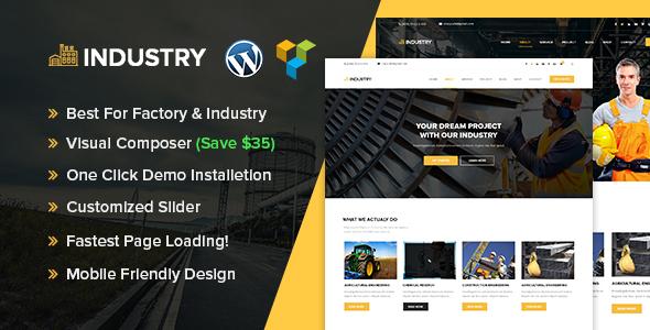 قالب Industry - پوسته صنعت و کارخانه