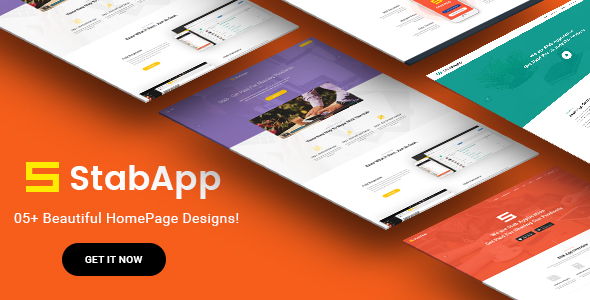 StabApp - قالب وردپرس فروشگاه نرم افزار موبایل