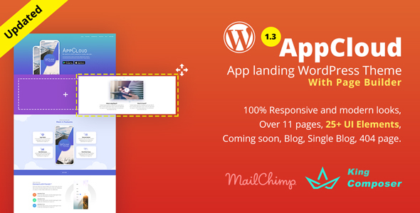 قالب AppCloud - قالب وردپرس فرود اپلیکیشن
