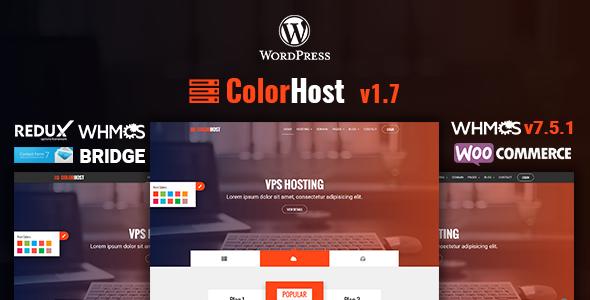 قالب ColorHost - قالب وردپرس هاستینگ و WHMCS