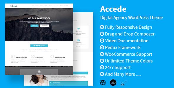 قالب Accede - قالب سایت شرکت خدمات دیجیتال