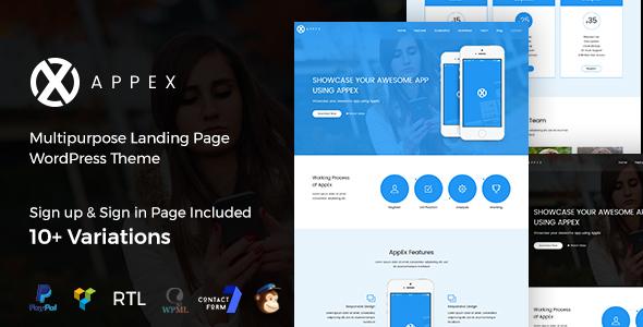 قالب AppEx - قالب وردپرس فرود اپلیکیشن