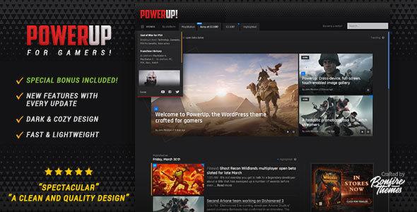 قالب PowerUp - قالب وردپرس بازی کامپیوتری