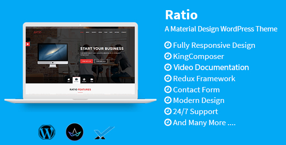 قالب Ratio - قالب وردپرس متریال دیزاین
