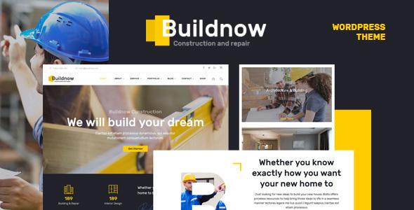 Buildnow - قالب وردپرس ساخت و ساز ساختمان
