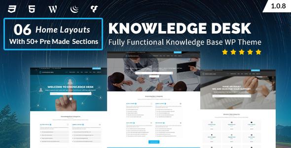 قالب Knowledgedesk - قالب وردپرس پایگاه دانش