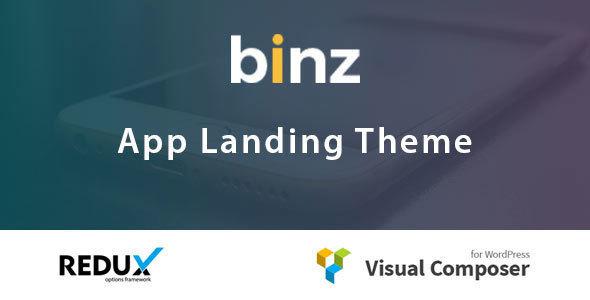 قالب Binz - قالب صفحه فرود اپلیکیشن