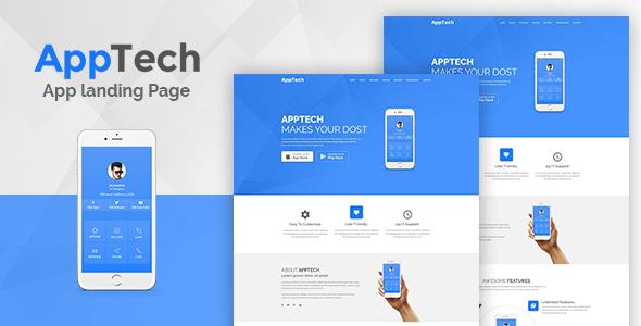 قالب AppTech - قالب صفحه فرود برای وردپرس