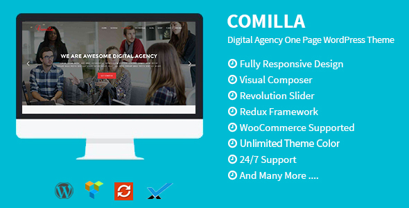 قالب Comilla - قالب وردپرس تک صفحه ای آژانس دیجیتال