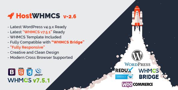 قالب HostWHMCS - پوسته وردپرس و WHMCS هاستینگ