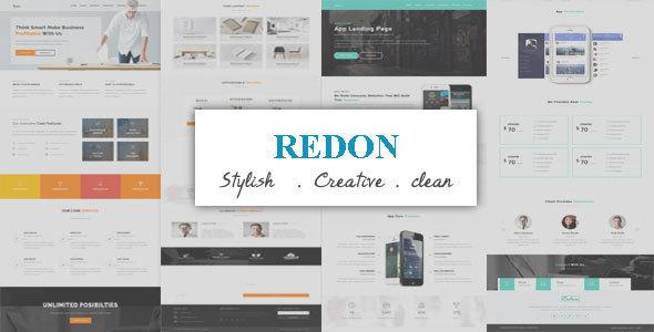 قالب Redon - قالب وردپرس لندیگ پیج چند منظوره