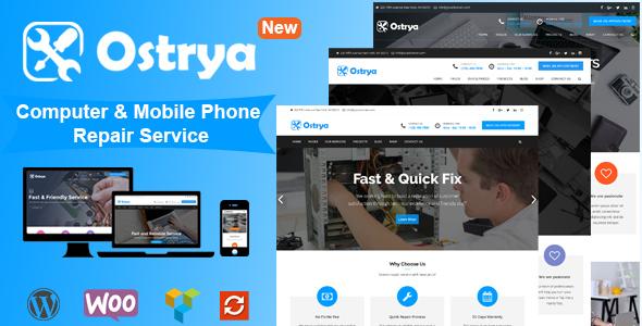 قالب Ostrya - قالب وردپرس تعمیرگاه و خدمات کامپیوتر و موبایل