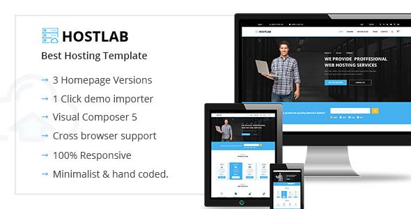 HostLab - قالب وردپرس هاستینگ و تکنولوژی