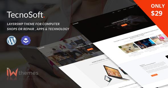 قالب TecnoSoft - قالب وردپرس تعمیرگاه موبایل و کامپیوتر