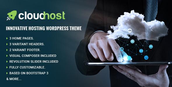 قالب CloudHost - قالب وردپرس هاستینگ