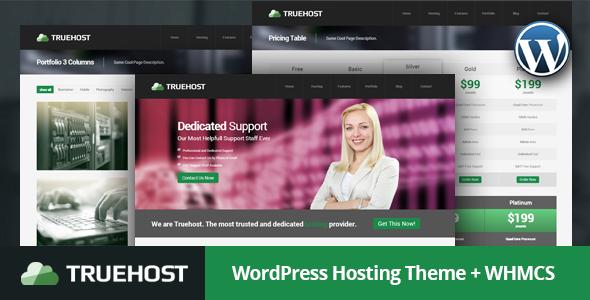 Truehost - قالب میزبانی هاست وردپرس + WHMCS