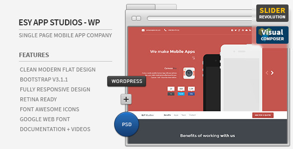 ایزی اپ | Esy App - قالب وردپرس تک صفحه ای