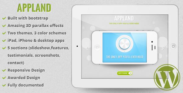 قالب AppLand - قالب سایت معرفی اپلییکشن