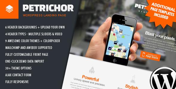 قالب Petrichor - صفحه فرود وردپرس