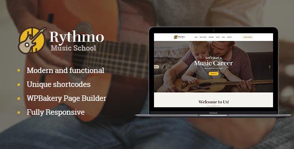 Rythmo - قالب وردپرس آموزشگاه موسیقی