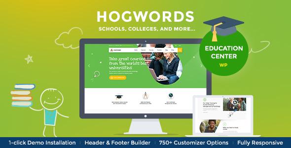 قالب Hogwords - پوسته وردپرس مرکز آموزشی