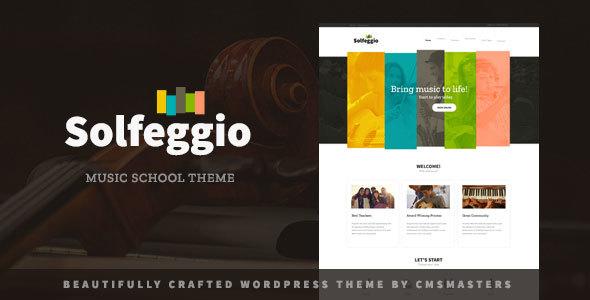 قالب Solfeggio - قالب وردپرس آموزشگاه موسیقی