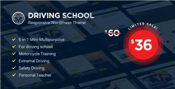 Driving School - قالب وردپرس