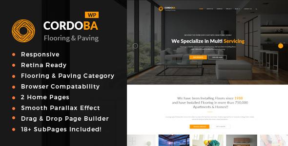Cordoba - قالب وردپرس خدمات سنگ فرش