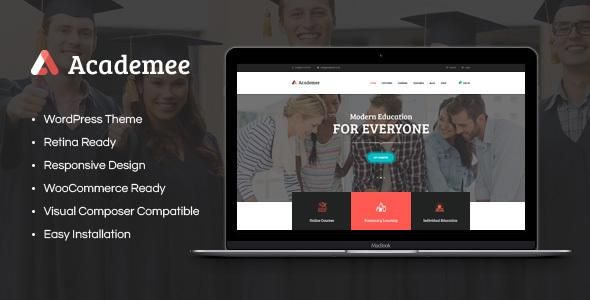 قالب Academee - قالب وردپرس مرکز آموزش و دوره های آموزشی