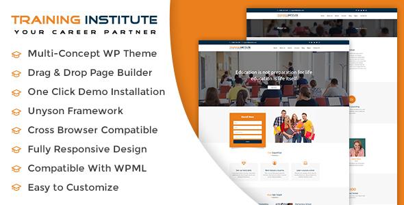 قالب Training Institute - قالب وردپرس آموزش و موسسه آموزشی