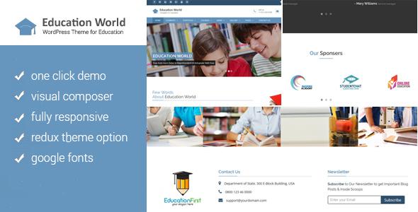 قالب Education World - قالب وردپرس