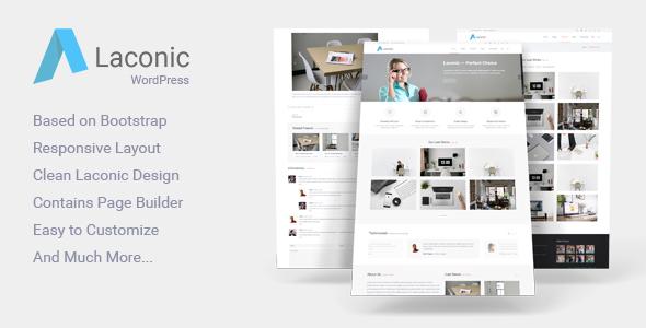 Laconic - قالب مدرن وردپرس کسب و کار و شرکتی