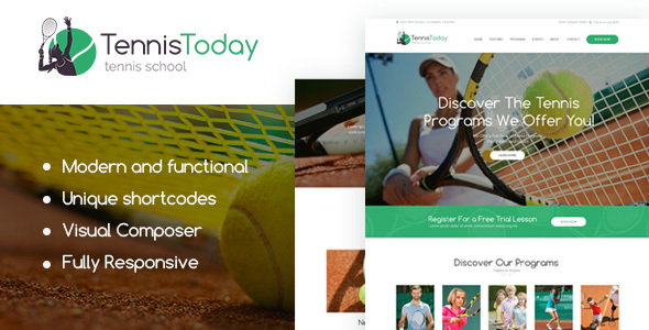 قالب Tennis Today - قالب وردپرس مدرسه ورزشی