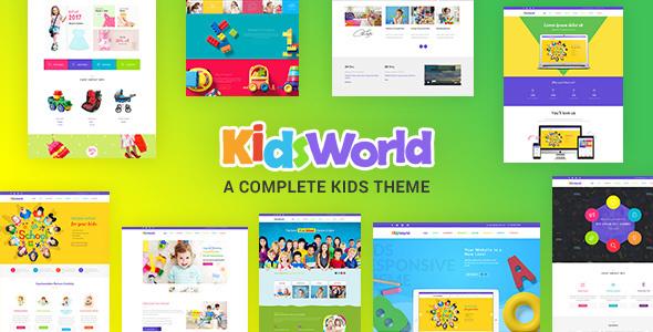 قالب Kids Heaven - قالب وردپرس کودکان و نوجوانان
