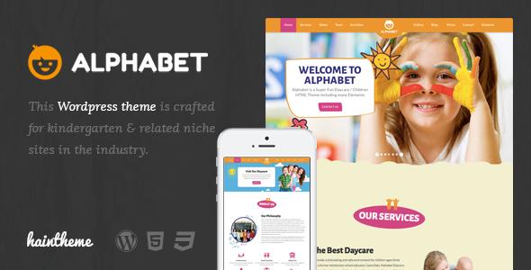 قالب Alphabet - قالب وردپرس کودکان و نوجوانان
