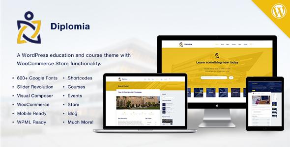قالب Diplomia WordPress Theme - قالب وردپرس سایت آموزش