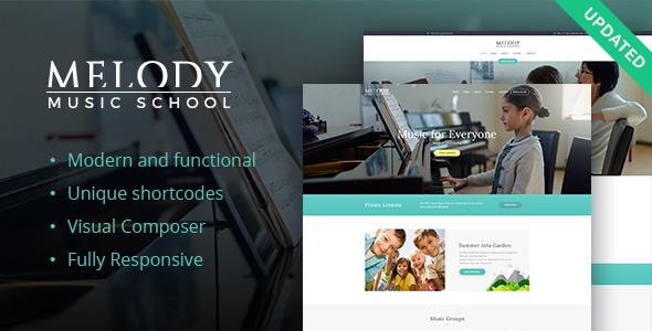 قالب Melody - قالب وردپرس آموزشگاه موسیقی
