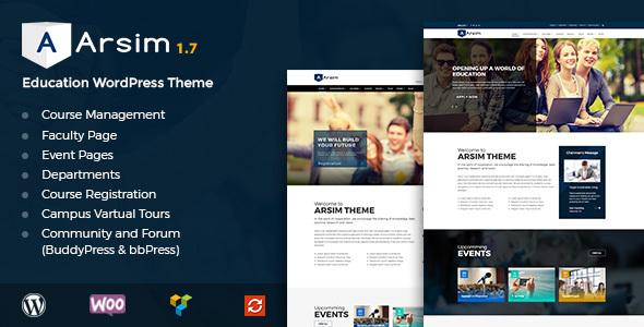 قالب Arsim - قالب وردپرس سایت آموزشی همراه با فروشگاه