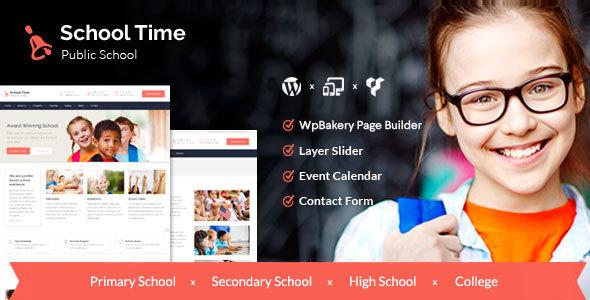 School Time - قالب آموزشی مدرن برای وردپرس