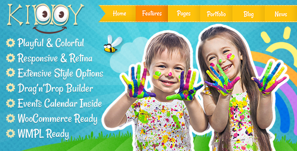 قالب Kiddy - قالب وردپرس کودکان