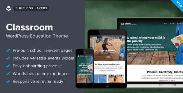 قالب Classroom - قالب وردپرس مدرسه و آموزشگاه