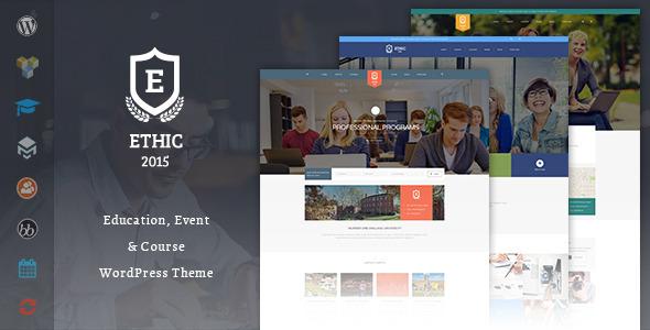 قالب ETHIC LMS Theme - قالب وردپرس دوره آموزش آنلاین