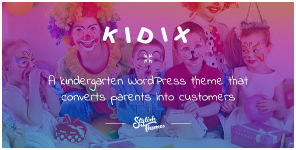 KIDIX - قالب وردپرس مهدکودک