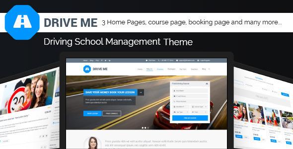 Driveme - قالب وردپرس آموزشگاه رانندگی