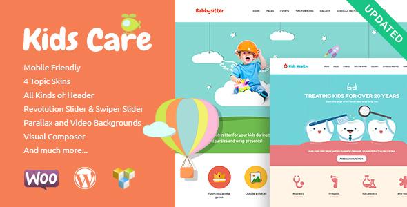 قالب Kids Care - قالب وردپرس چند منظوره کودکان