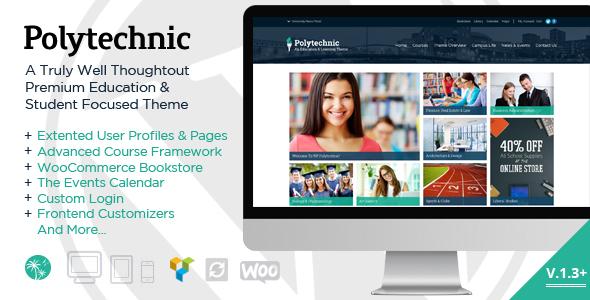 قالب Polytechnic - قالب وردپرس آموزش مجازی