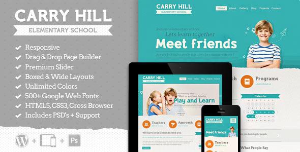 Carry Hill School - قالب وردپرس ریسپانسیو
