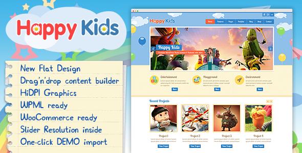 Happy Kids - قالب وردپرس کودکان