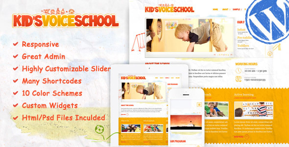 قالب Kids Voice School - قالب وردپرس ریسپانسیو