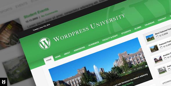 قالب University - قالب وردپرس برای مراکز آموزشی